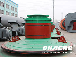 Ball mill end cover - key spare parts of ball mill
