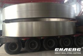 Rotary kiln tyres made by CHAENG were exported to Italy, Tajikistan