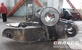 Forging machine clamp arm